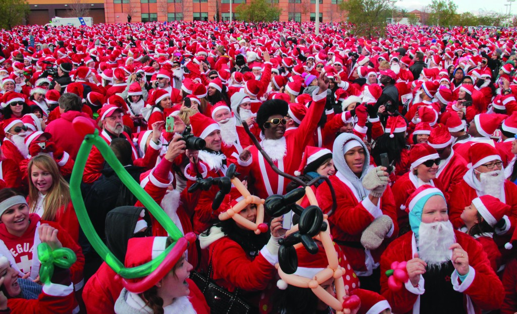Santa Claus crowd